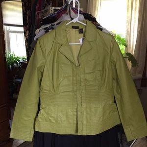 Shape fx leather jacket